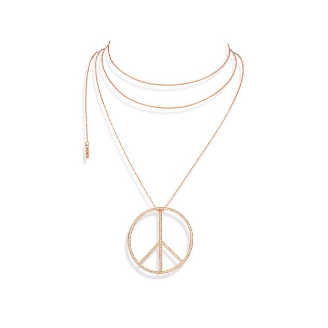 """COLLIER-SAUTOIR """"PEACE & LOVE"""""""