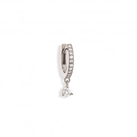 """mono-boucle pampille """"diamant rond"""""""