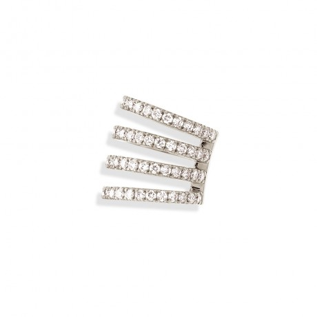 "BIJOU D'OREILLE ""HASH"" MULTI-DIAMANTS"