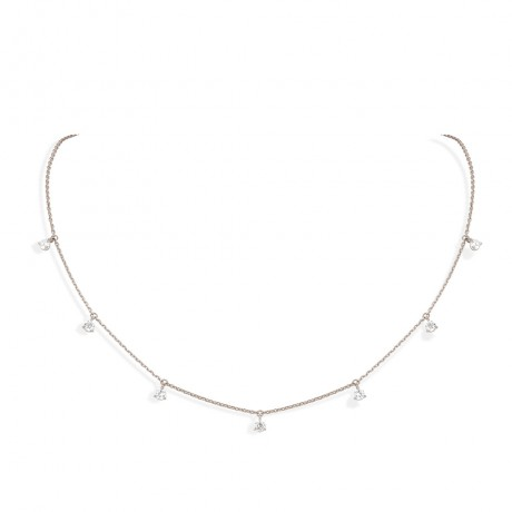 collier pampilles gris