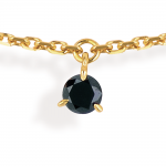 "Collier 7 pampilles ""diamants noirs"""