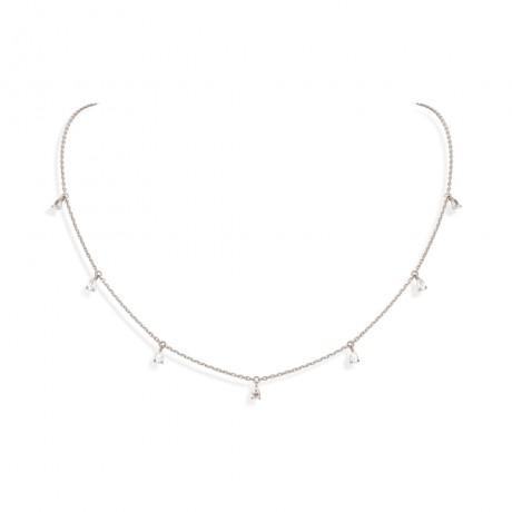 collier 7 pampilles diamants poires