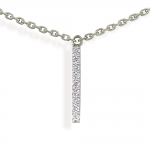 "collier ""hash "" 5 barrettes diamants"
