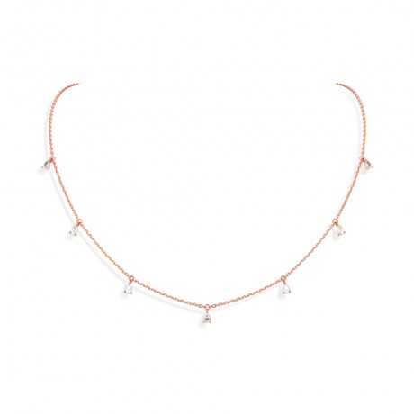 "collier 7 pampilles "" diamants taille poire """